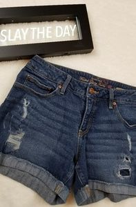 Faded Glory Distressed Denim Shorts Size 10.
